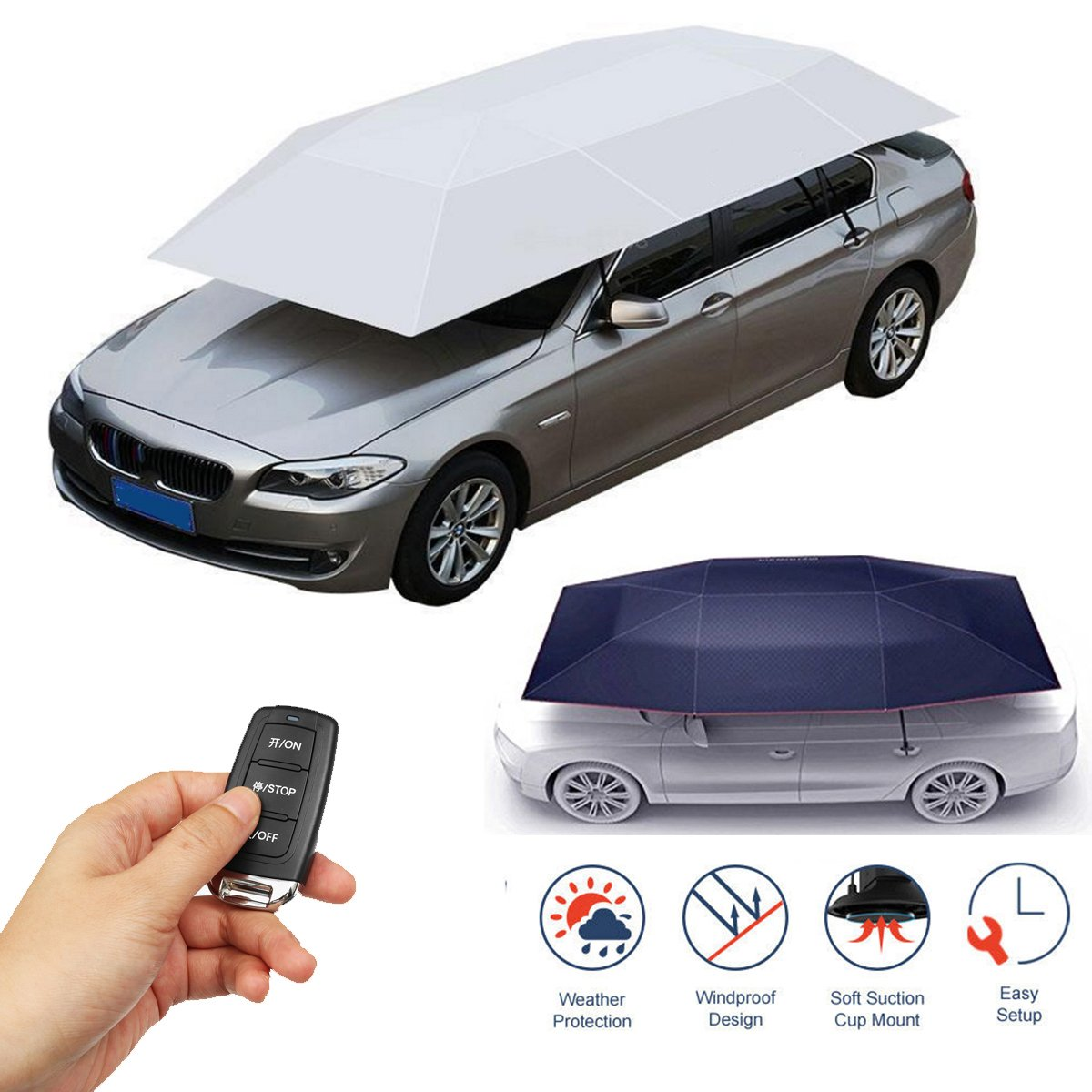 Portable Automatic Car Umbrella Cover