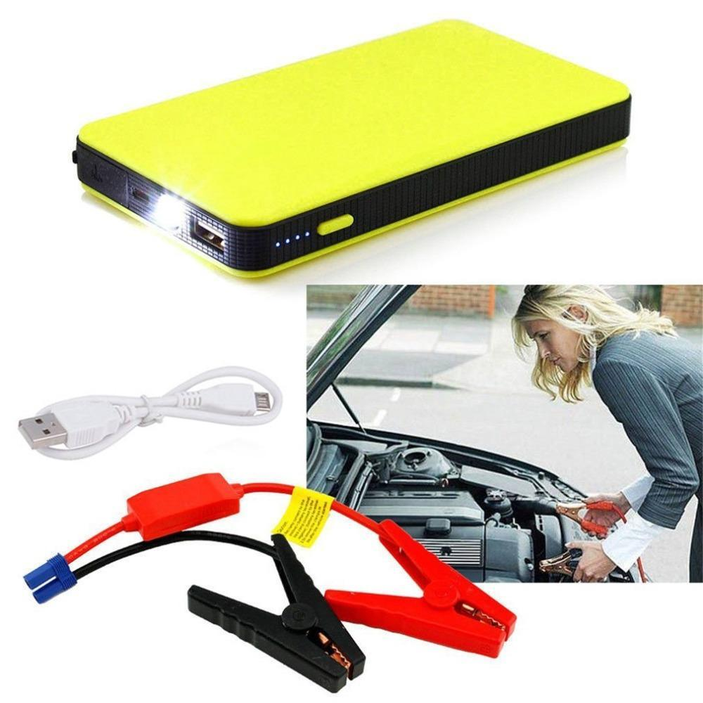 Portable Mini Car Jump Starter Power Bank Car Emergency - Yellow
