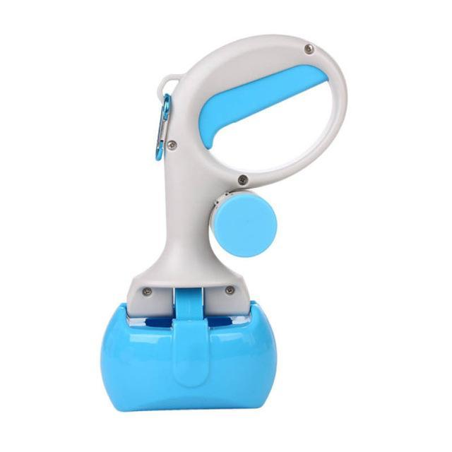 Portable Pet Poop Scooper With Poop Bags Compartment - Blue / China