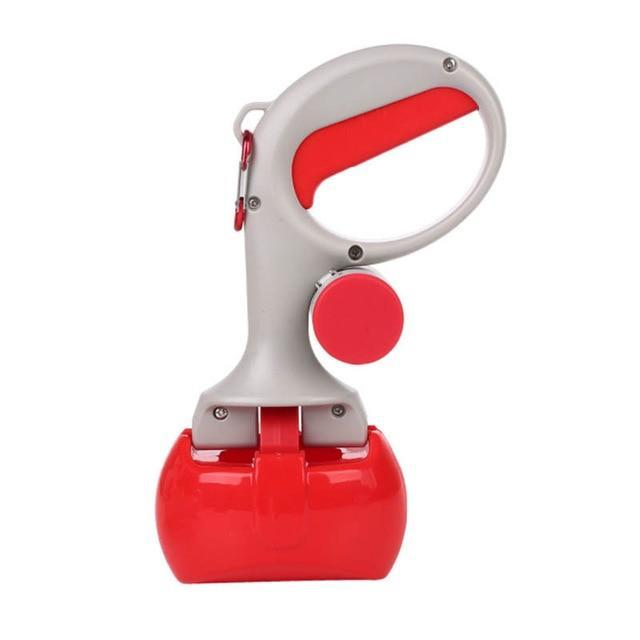 Portable Pet Poop Scooper With Poop Bags Compartment - Red / China