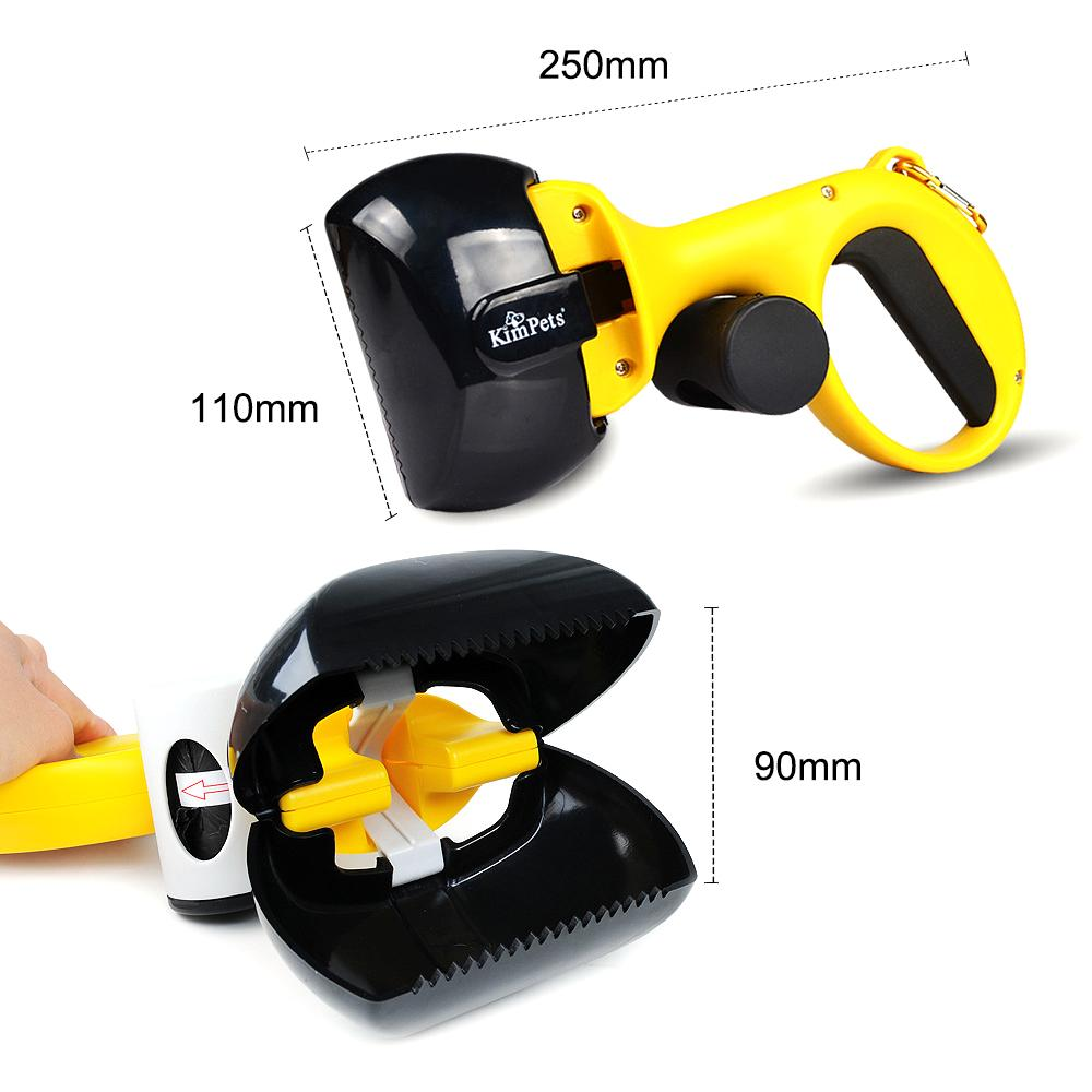 Portable Pet Poop Scooper With Poop Bags Compartment