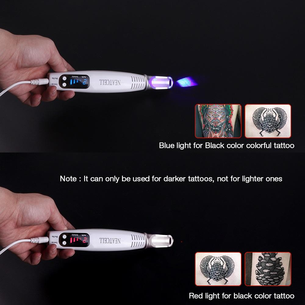 Portable Red Blue Light Laser Removal Pen For Tattoos Acne Scars & Moles