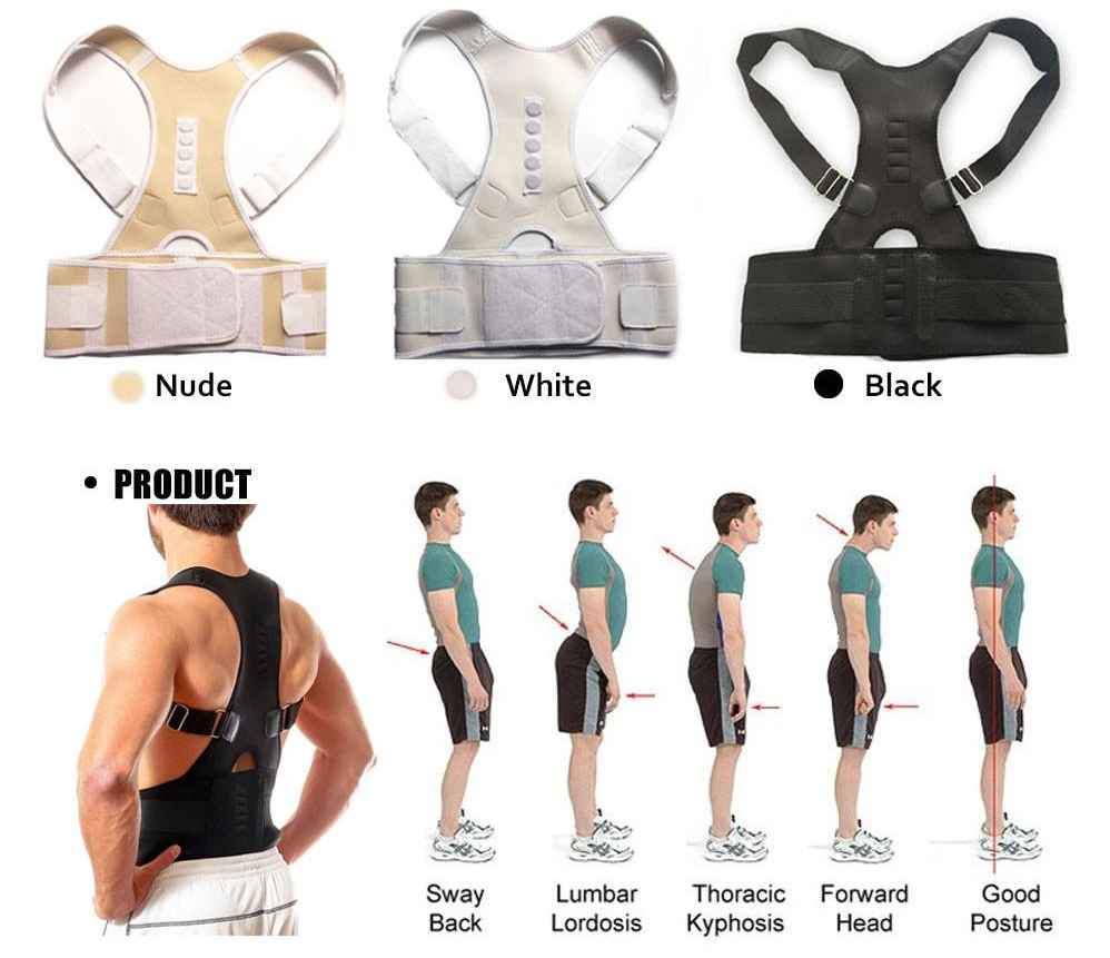 Magnetic Posture Corrector For Lower And Upper Back Pain