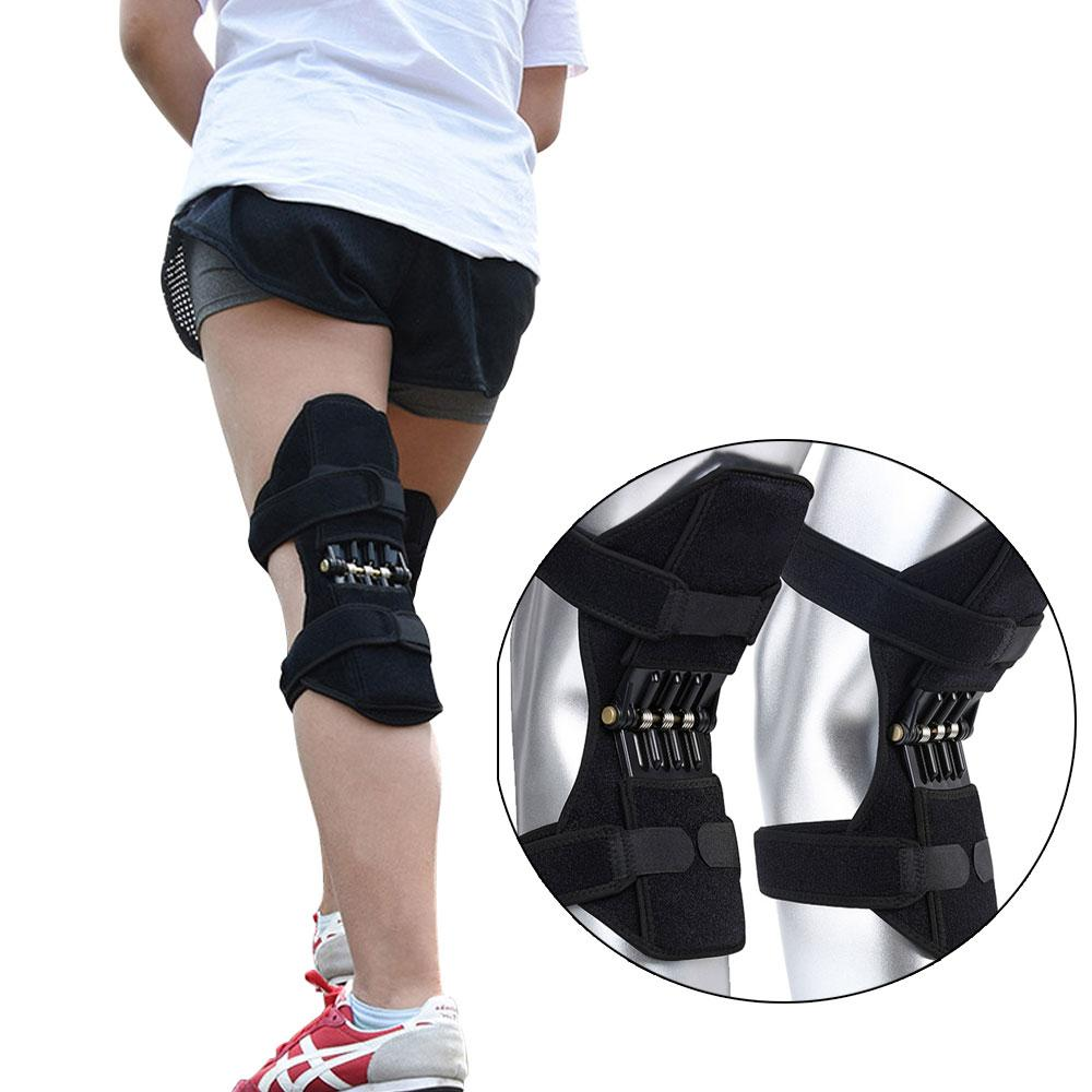 Power Lift Knee Stabilizer Pads - Joint Support Knee Pads - Knee Booster - Black - Elbow & Knee Pads