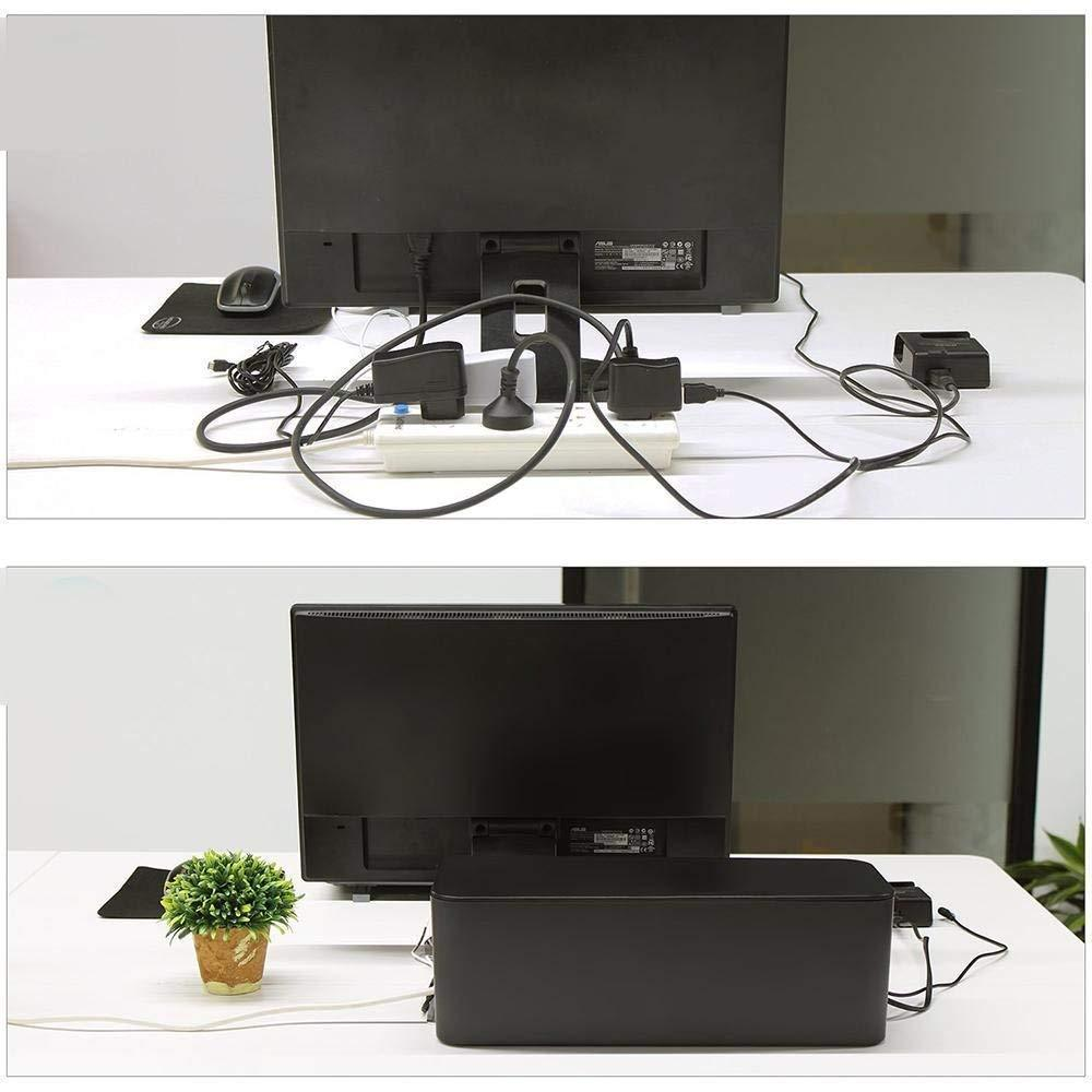 Power Strip Wire Cable Management Box - Cord Organizer With Cover Box
