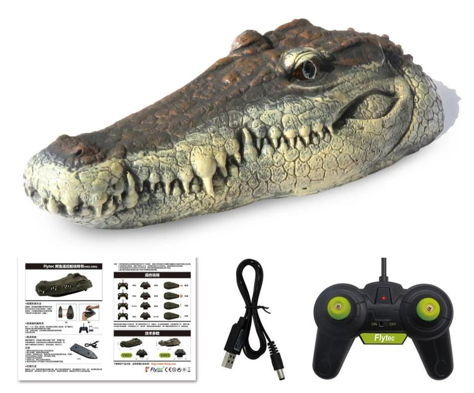 Simulation Crocodile Head Remote Control Boat - Crocodile Head Spoof Toy - RC Boats