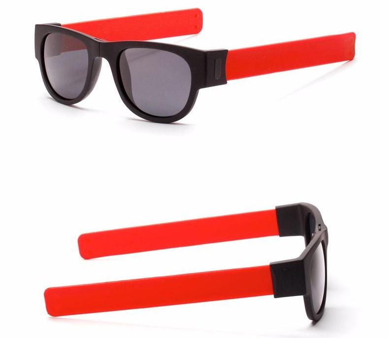 Slappable Grey Sunglasses - Red