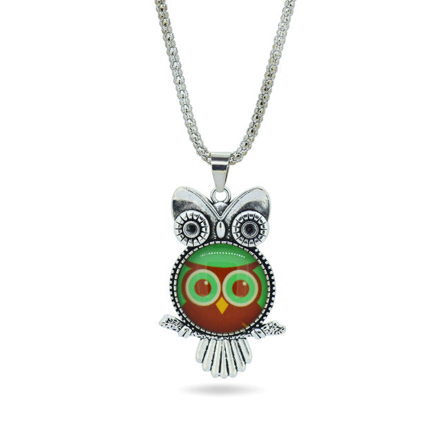 Pretty Owl Pendant Necklace - Style 5