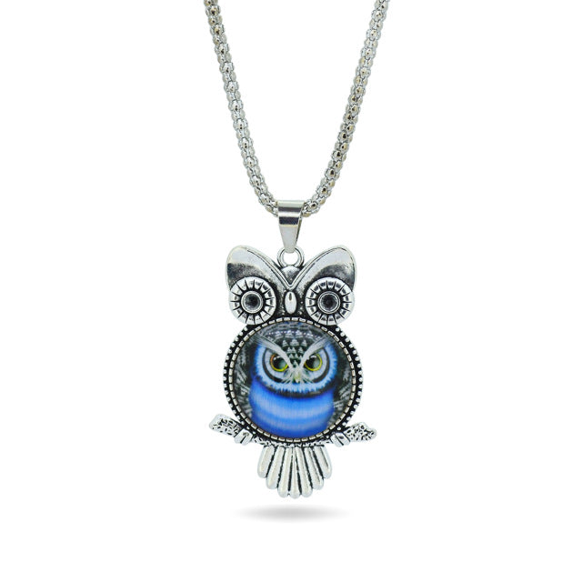 Pretty Owl Pendant Necklace - Style 6