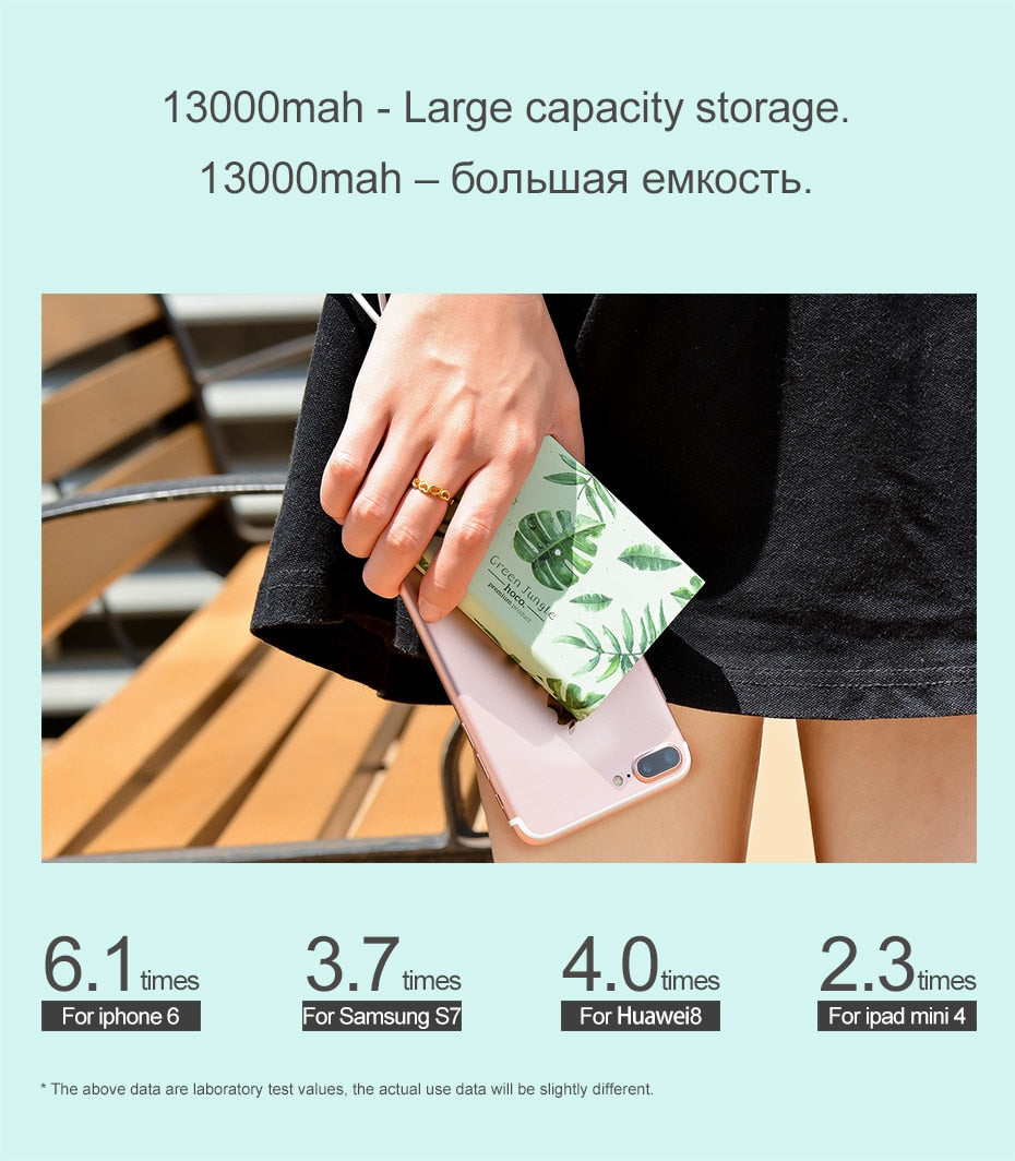 Super Fashionable Dual Output Power Bank 13000 Mah