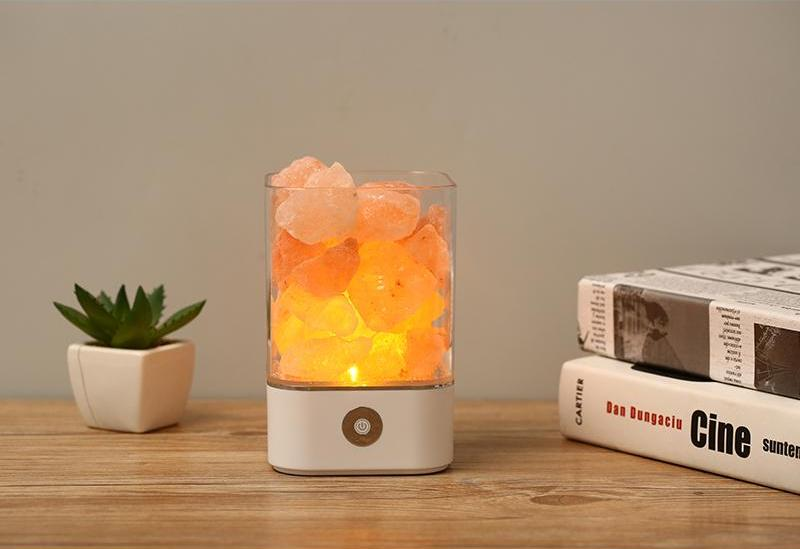Natural Himalayan Salt Led Lamp - White