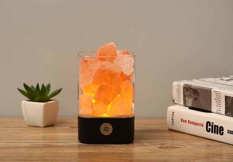 Natural Himalayan Salt Led Lamp - Black