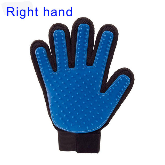 Pet Grooming Glove - Blue-Right Hand