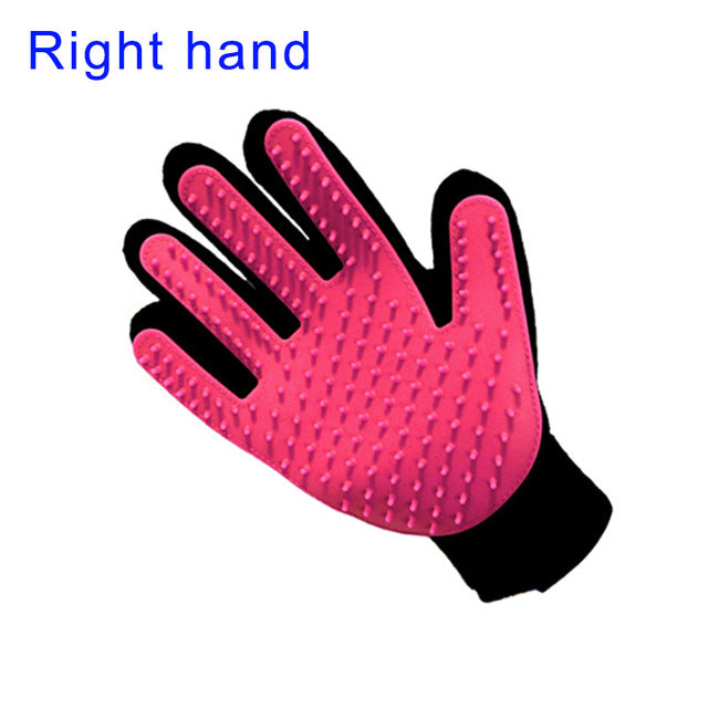 Pet Grooming Glove - Pink-Right Hand