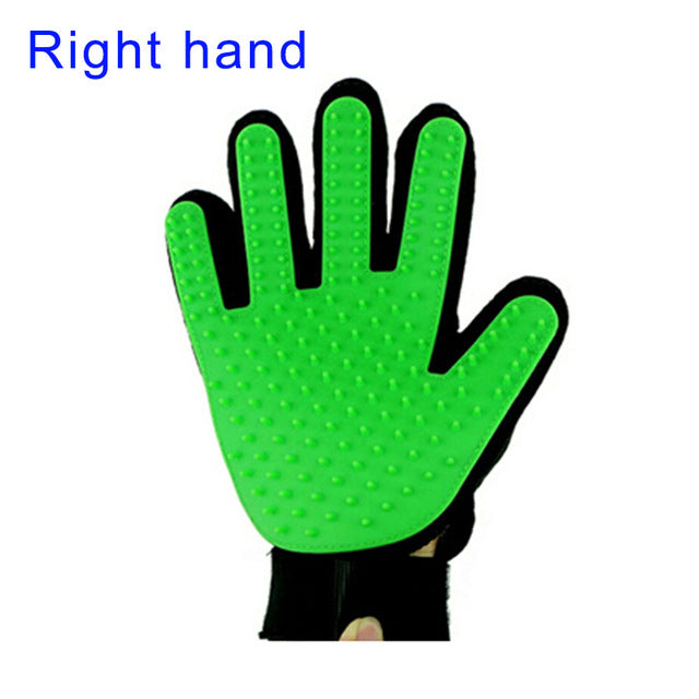 Pet Grooming Glove - Green-Right Hand