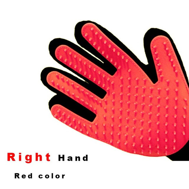 Pet Grooming Glove - Red-Right Hand