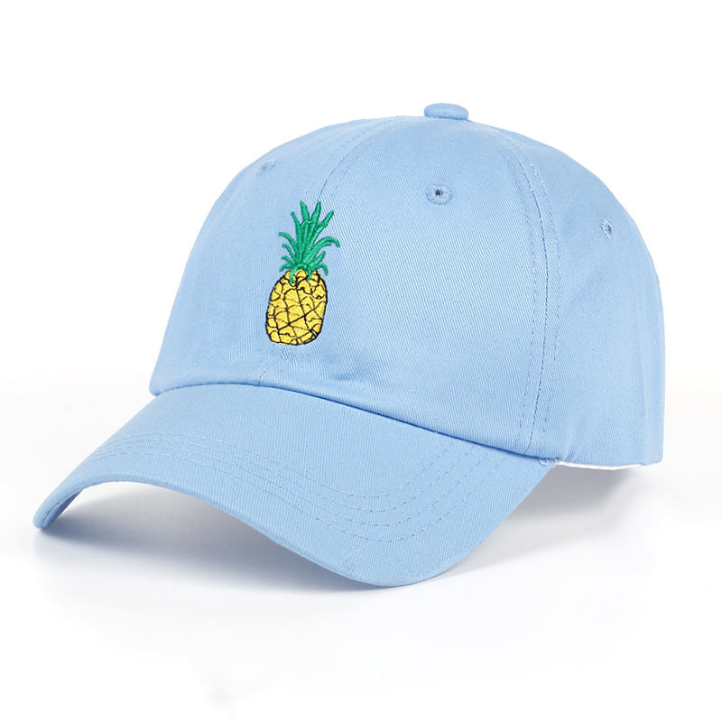 Pineapple Dad Hat - Sky Blue