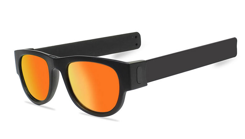 Slappable Mirror Sunglasses - Red Mirrored Black