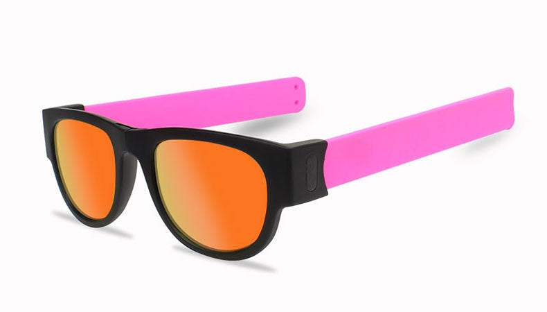 Slappable Mirror Sunglasses - Red Mirrored Pink