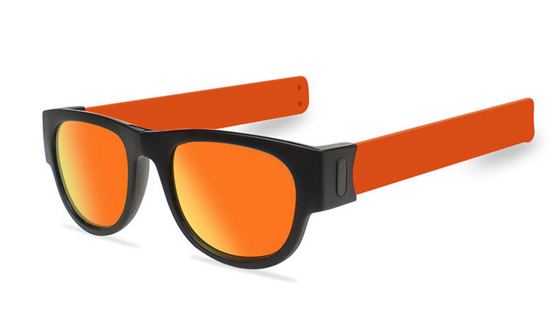 Slappable Mirror Sunglasses - Red Mirrored Orange