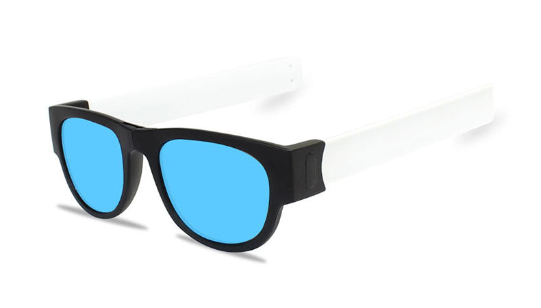 Slappable Mirror Sunglasses - Ice Blue Mirrored White
