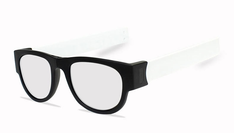 Slappable Mirror Sunglasses - Silver Mirrored White