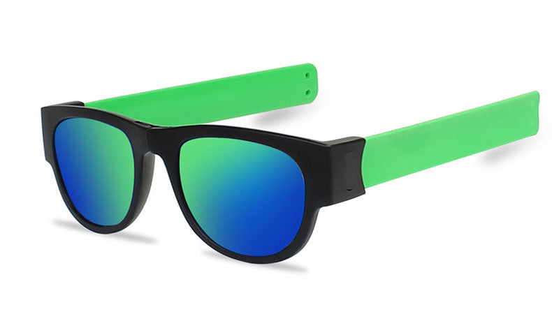 Slappable Mirror Sunglasses - Blue Green Mirrored Green