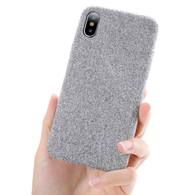Luxury Cloth Texture Iphone Case - Gray / For Iphone X
