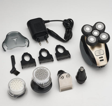 Easy Head Shaver - 5 in 1 4D Rechargeable Electric Shaver