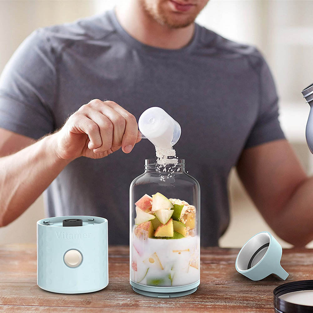 Portable Usb Rechargeable Smoothie Blender Bottle