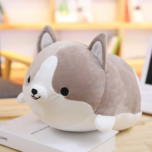 Cute Corgi Dog Plush Stuffed Toy/pillow - 30Cm / Gray