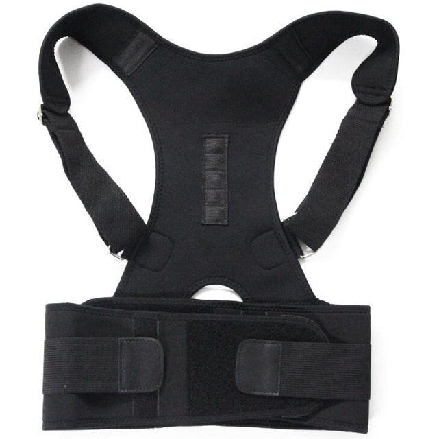 Magnetic Posture Corrector For Lower And Upper Back Pain - Black / M