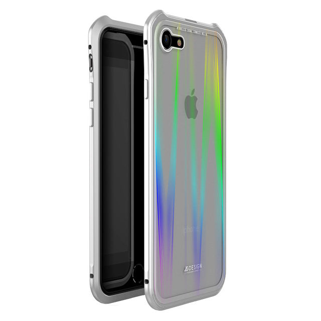 Luxury Shockproof Aluminum Case For Iphone Xs Max Xr Xs 8 7 Plus - Full Silver / For Iphone 7 8