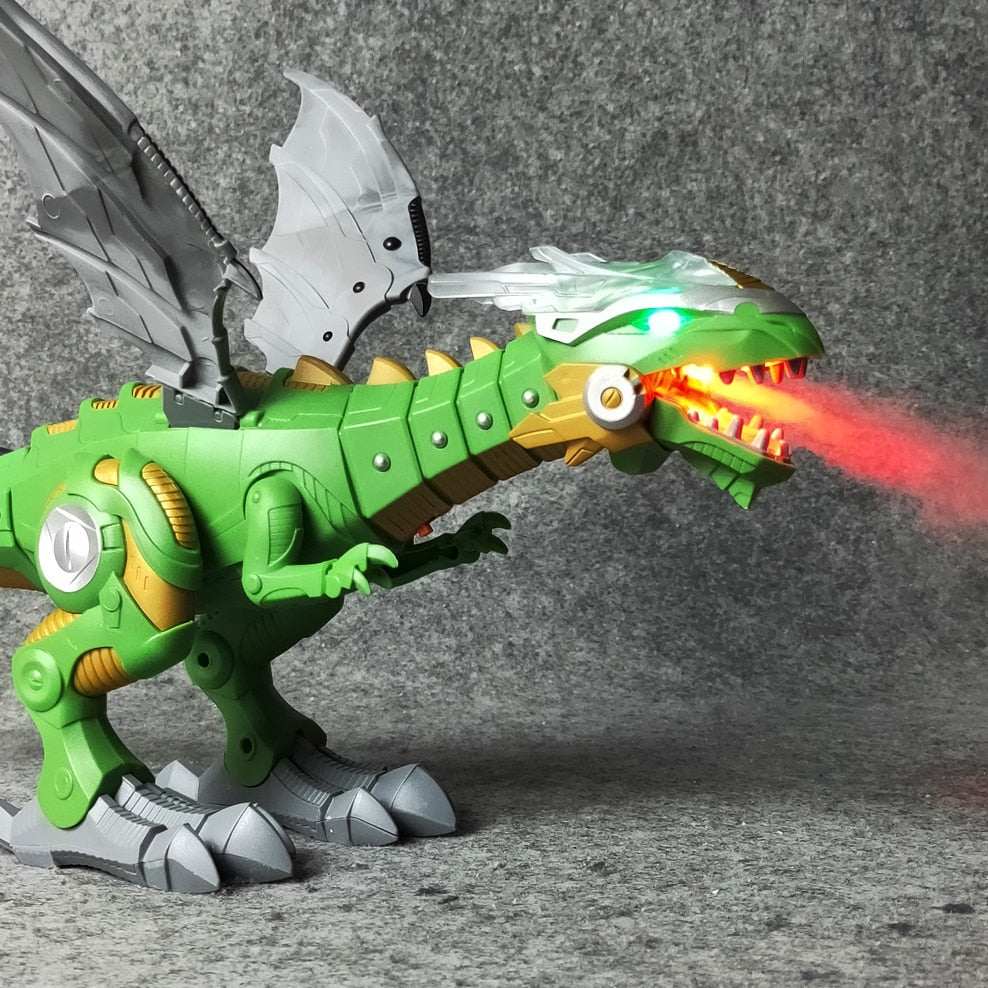 Interactive Fire Breathing Dinosaur Toy