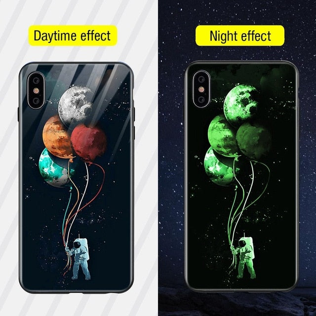 Luminous Iphone Glass Case For Iphone X Xs Max 7 8 Plus - Style11 / For Iphone Xs