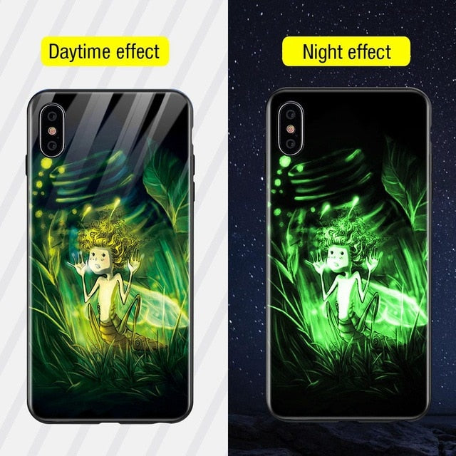 Luminous Iphone Glass Case For Iphone X Xs Max 7 8 Plus - Style12 / For Iphone Xs