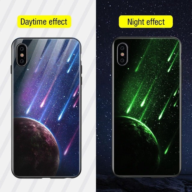 Luminous Iphone Glass Case For Iphone X Xs Max 7 8 Plus - Style15 / For Iphone Xs