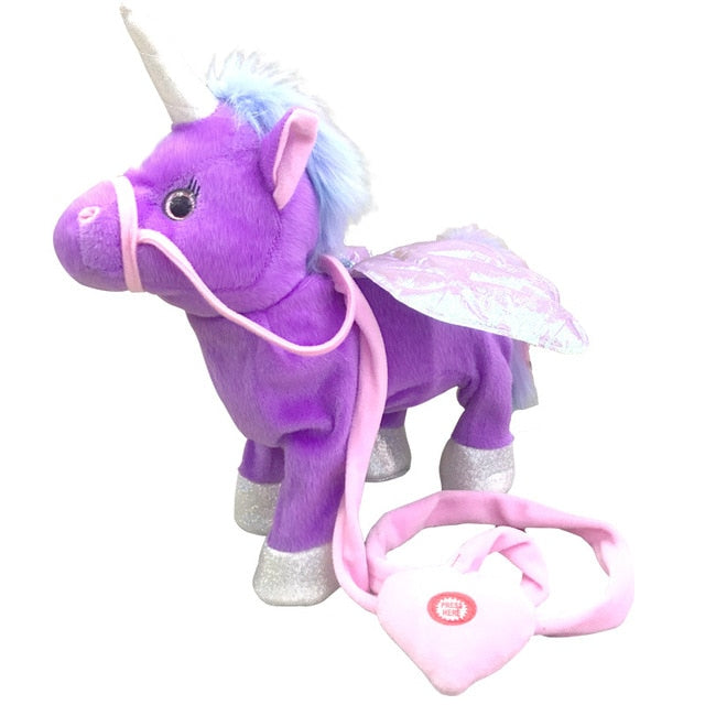 Singing And Walking Unicorn Plush Toy - Purple