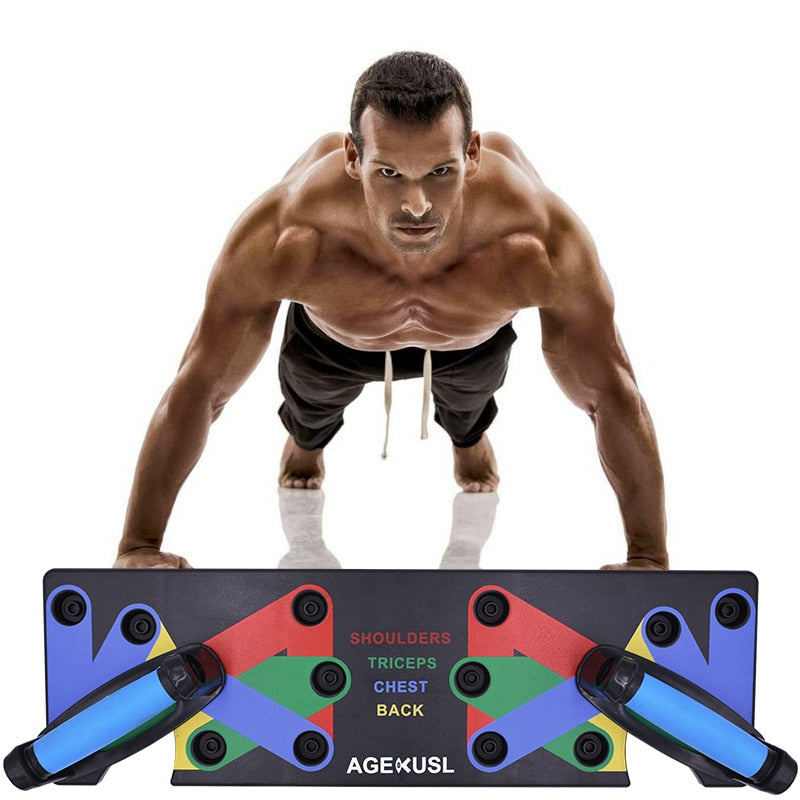 9 in 1 Home Push Up Rack Board Body Building Training System
