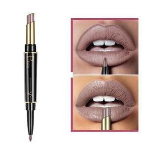 Pudaier Double Ended Waterproof Long Lasting Matte Lipstick Lip Liner - #01 - Lipstick