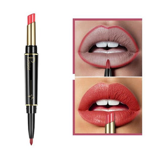 Pudaier Double Ended Waterproof Long Lasting Matte Lipstick Lip Liner - #02 - Lipstick