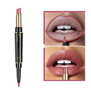 Pudaier Double Ended Waterproof Long Lasting Matte Lipstick Lip Liner - #05 - Lipstick