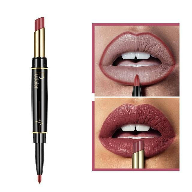 Pudaier Double Ended Waterproof Long Lasting Matte Lipstick Lip Liner - #06 - Lipstick