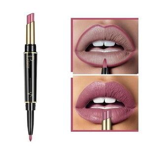 Pudaier Double Ended Waterproof Long Lasting Matte Lipstick Lip Liner - #07 - Lipstick