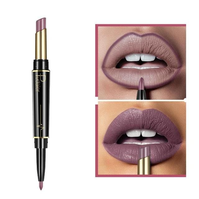 Pudaier Double Ended Waterproof Long Lasting Matte Lipstick Lip Liner - #09 - Lipstick