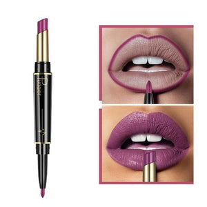 Pudaier Double Ended Waterproof Long Lasting Matte Lipstick Lip Liner - #12 - Lipstick