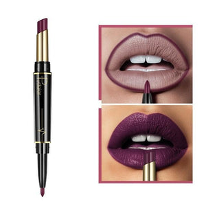 Pudaier Double Ended Waterproof Long Lasting Matte Lipstick Lip Liner - #15 - Lipstick