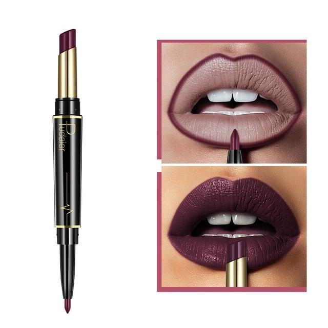 Pudaier Double Ended Waterproof Long Lasting Matte Lipstick Lip Liner - #16 - Lipstick