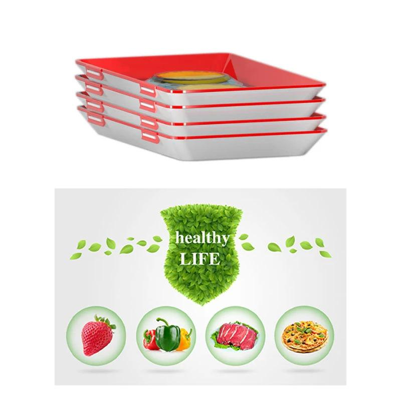 Reusable Food Preservation Tray - Refrigerator Food Storage Container