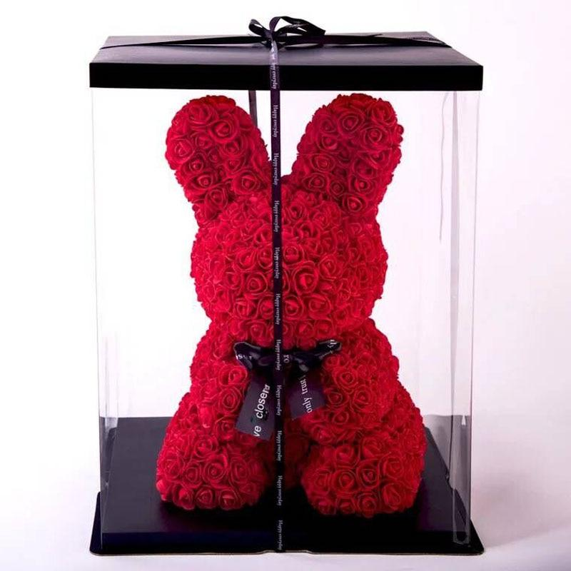 Rose Bunny Artificial Rose Rabbit Wedding Anniversary Valentines Easter Gift